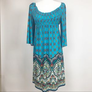 Muse for Boston Proper | Boho turquoise Dress